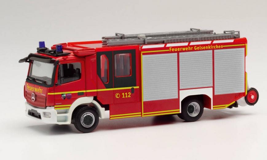 Herpa 095587 - Mercedes-Benz Atego 13 Ziegler Z-Cab Feuerwehr Gelsenkirchen