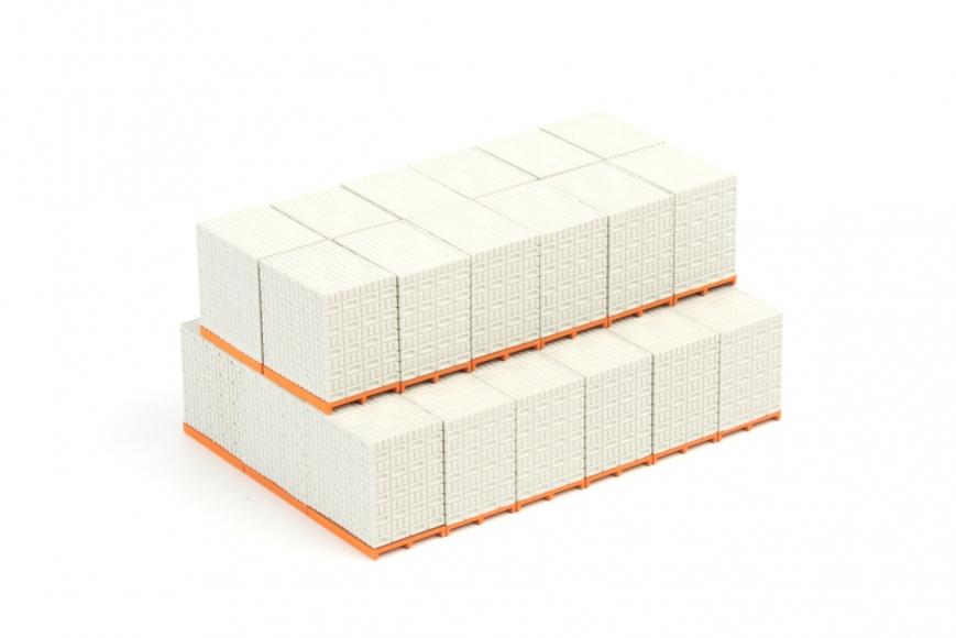 WSI 12-1003 - Weiße Steine auf Paletten