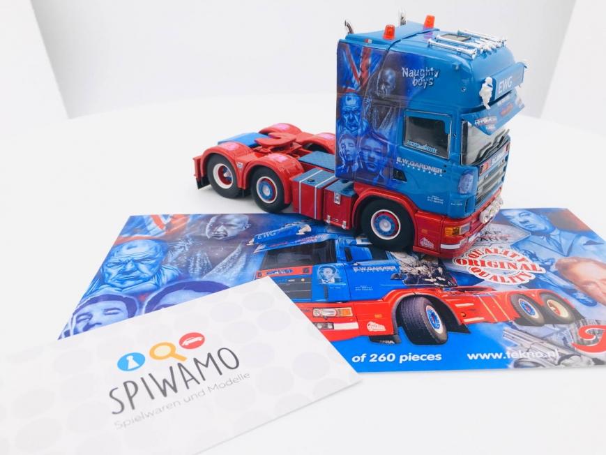 Tekno 76812 - Scania 4er-Serie Topline 6x2 - Gardner, E.W. (Naughty Boys)