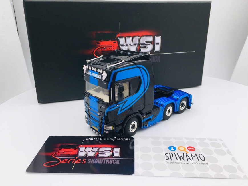 WSI 05-0084 - SCANIA R HIGHLINE - CR20H 6X2 TWINSTEER - Lars Justesen Transport - 1:50