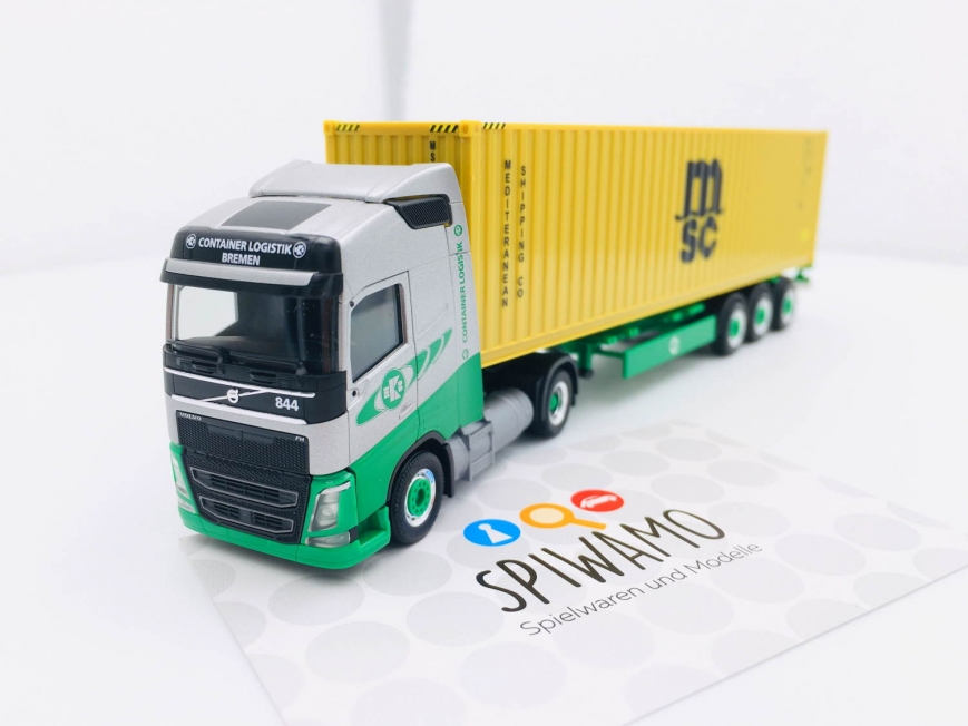"Herpa 313193 - Volvo FH Gl. LNG Container-Sattelzug ""EKB / MSC"" (Bremen)"