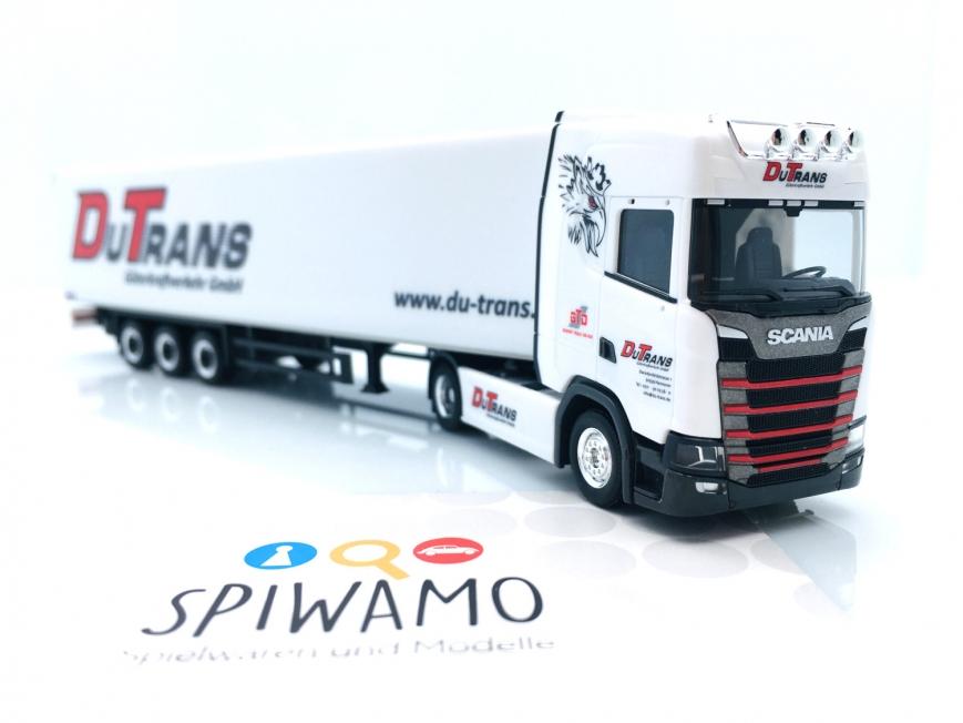 """Herpa 313490 - Scania CS 20 HD Koffer-Sattelzug """"Du-Trans / German Truck Driver"""" (Niedersachsen/Hannover)"""