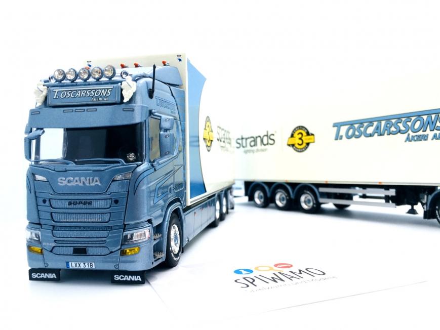 Tekno 80918 - Scania Next Gen R-serie 6x2 Schwedische Kombi - Oscarssons Akeri