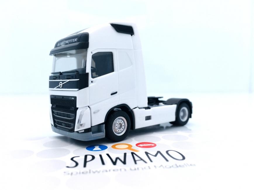Herpa 313360 - Volvo FH 16 Gl. XL 2020 Basic-Zugmaschine, weiß