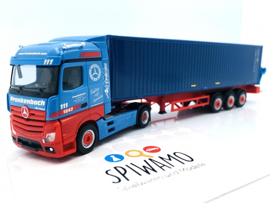 """Herpa 313919 - Mercedes-Benz Actros Container-Seitenlader - """"Frankenbach"""" (Rheinland-Pfalz/Mainz)"""