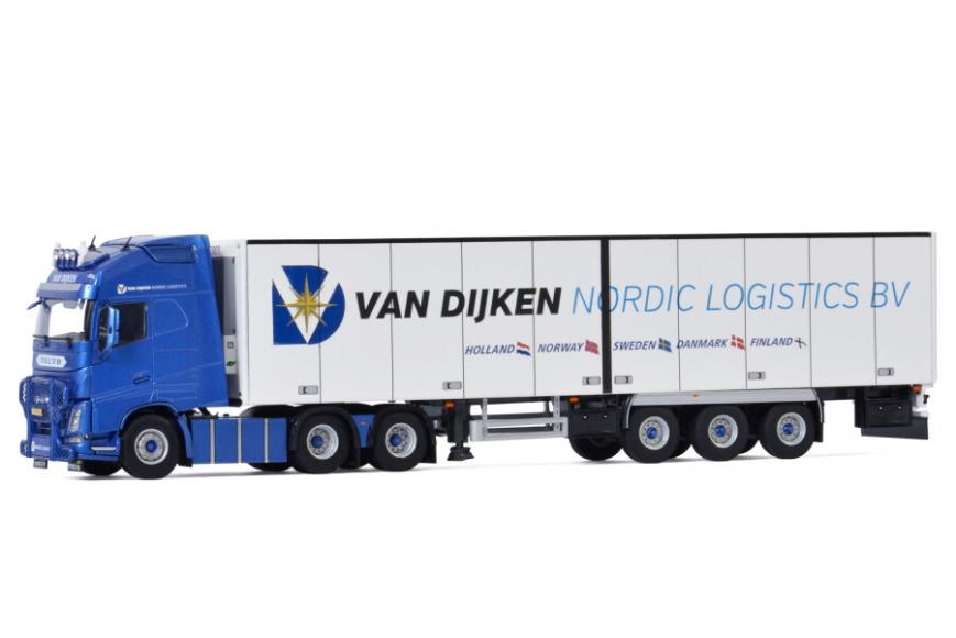 WSI 01-3426 - VOLVO FH4 GLOBETROTTER XL 6X2 - 3 Achs Kühlauflieger - Van Dijken Transport